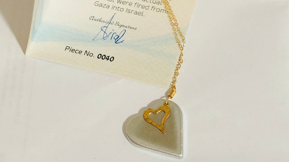 Heart in a Heart Necklace