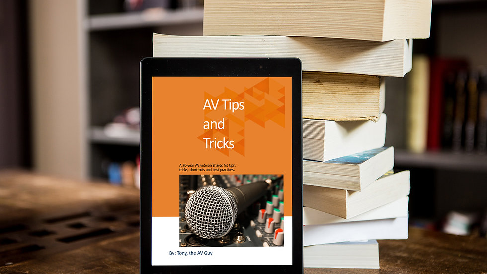 Tony's Av Tips & Tricks eBook