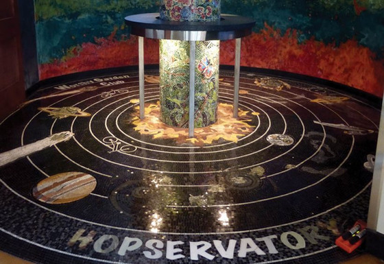 Trek into outer space in the Hopservatory's Transporter Room.