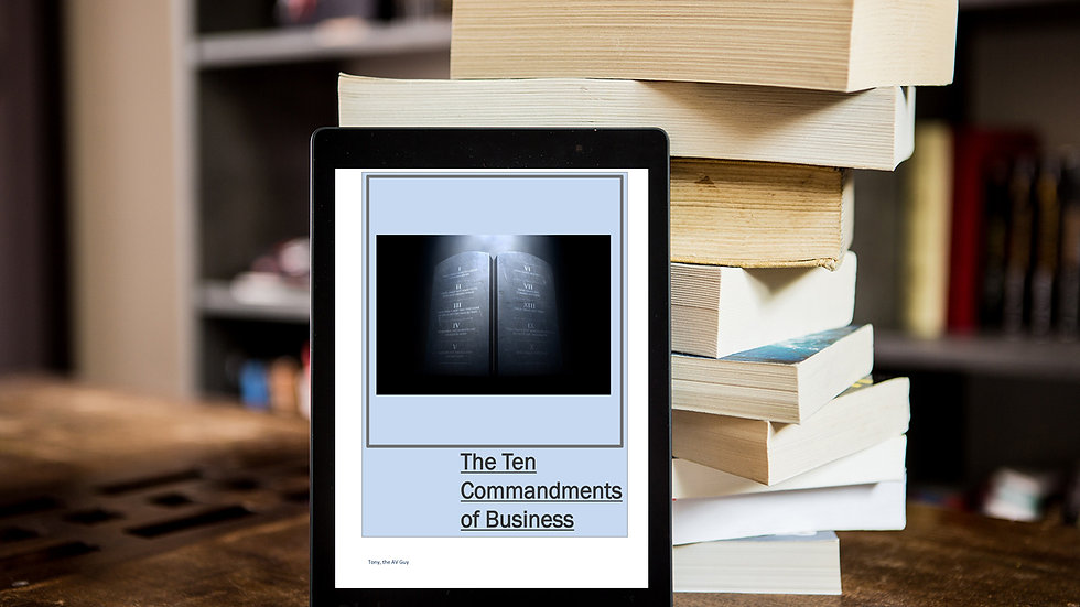 Ten Commandments of Business - Free eBook with Coupon code