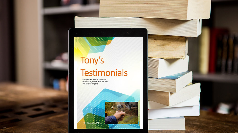Tony's Testimonial's eBook