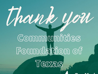One Man's Treasure receives Communities Foundation of Texas Grant