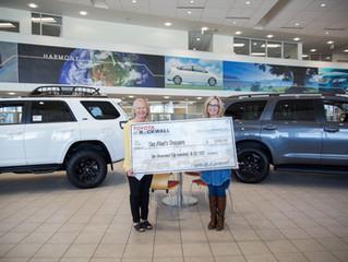Toyota of Rockwall sponsors One Man's Treasure Annual Gala trip raffle