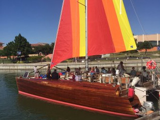 Enjoying the Summer in the Seawolf Sailboat - Sail with Scott Fundraiser Event