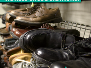 Our increased need for shoe donations: we need your help!