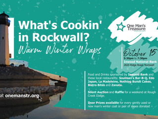 "You are invited to ""What's Cookin' in Rockwall? Warm Winter Wraps"""