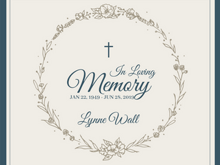 In Loving Memory of Lynne Wall