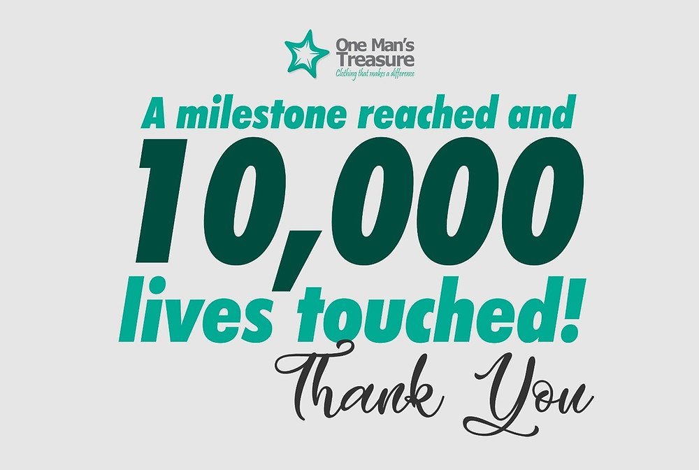 10,000 men milestone