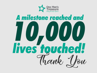 A milestone reached and 10,000 lives touched!
