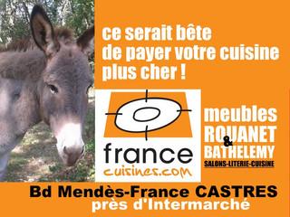 Francecuisine.com est ouvert juste à coté des meubles ROUANET à Castres et aux Meubles BARTHELEMY à