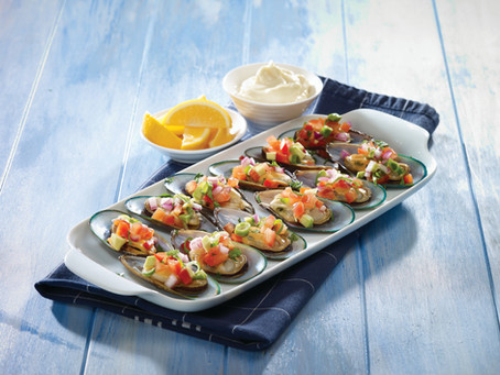 Garnished Mussels