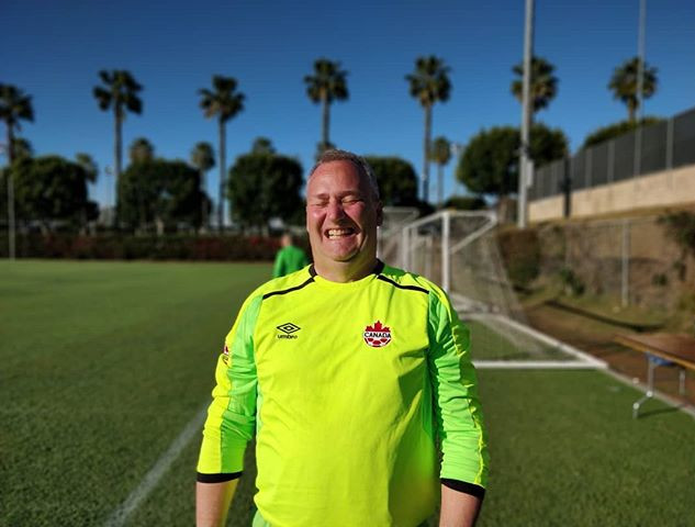 Dr. Scott Samis, keeper for the Canadian
