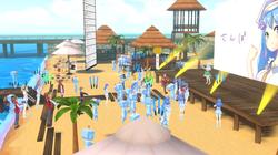 くらげビート5 昼の砂浜ステージ