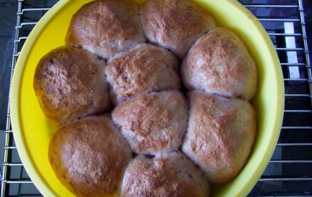 glutenfreie Brötchen fertig gebacken