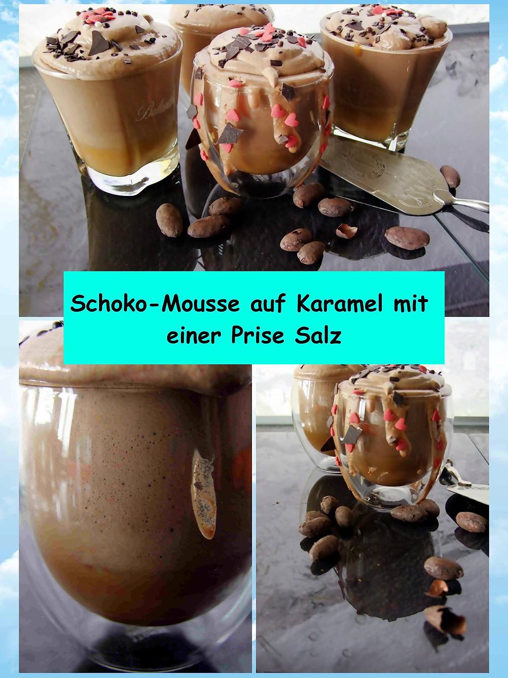 Schokomousse mit Salzkaramel