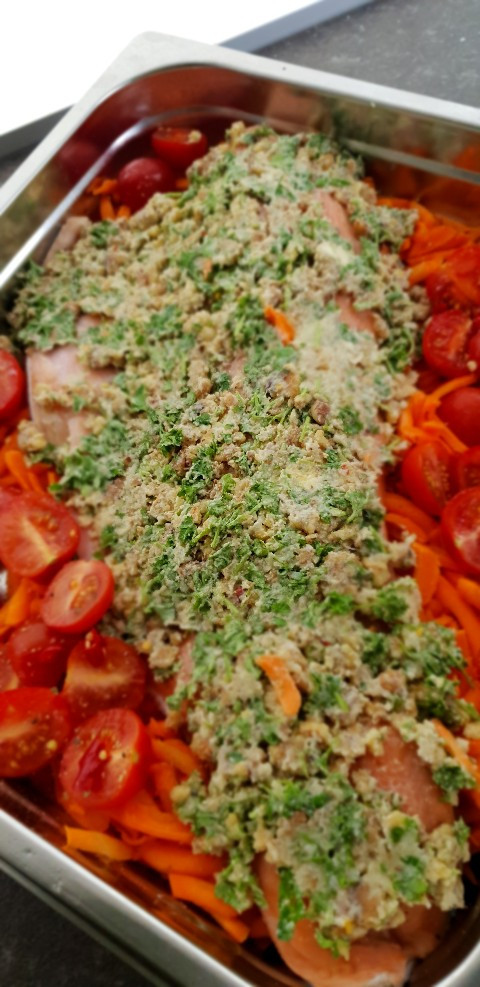 Lachsforelle,Gemüse