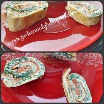 glutenfreie Roulade mit Lachs und Frischkäse