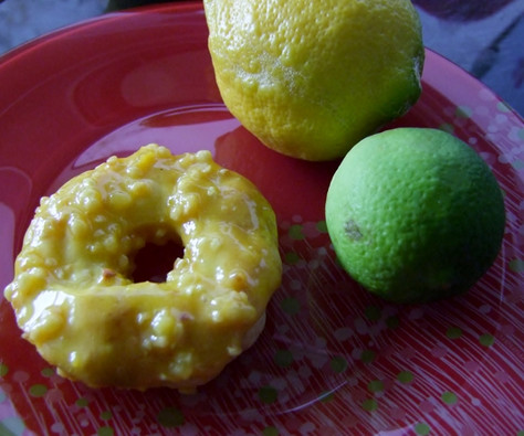 glutenfreie Zitronendonuts