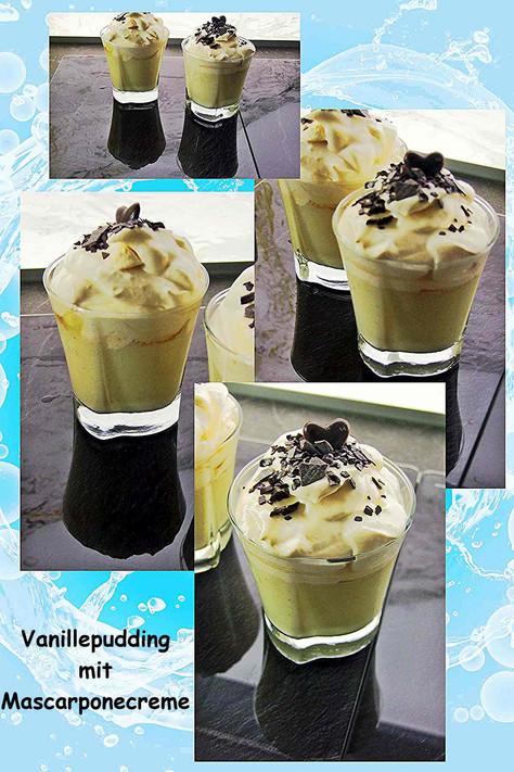 Vanillepudding mit Mascarpone creme