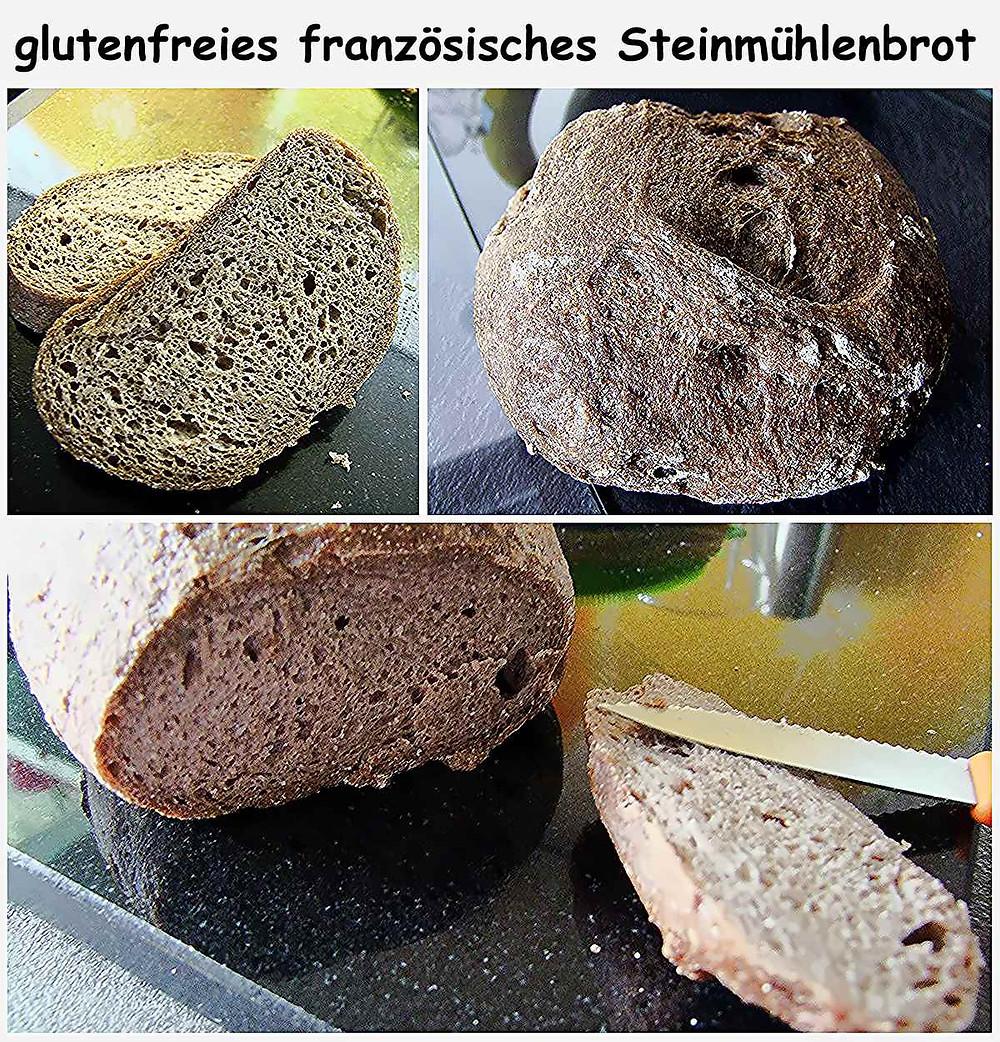 glutenfreies französisches Steinmühlenbrot