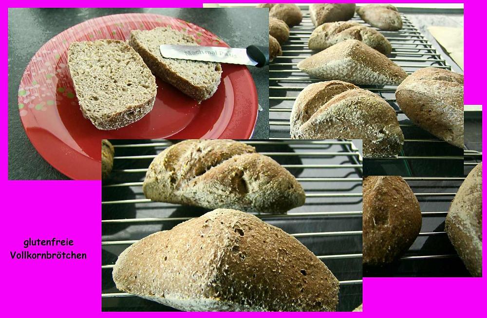Vollkornbrötchen auf glutenfreier Basis