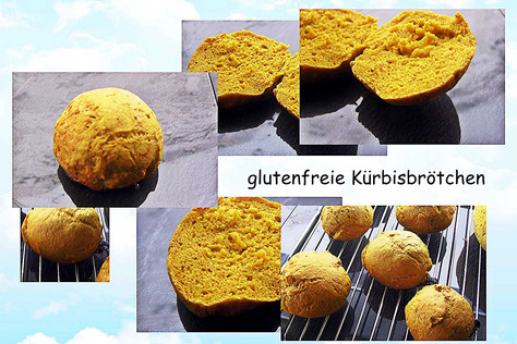 glutenfreie Kürbisbrötchen