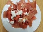 Melonen - Feta - Schinken Salat