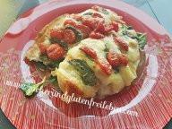 Hähnchenfächer gefüllt mit Tomate Mozzarella