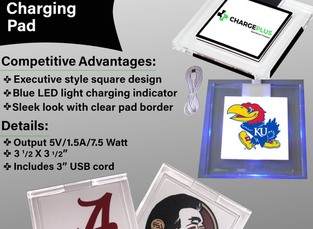 Charge Plus Now has Wireless Chargers with College Logo's Visit our site and place your order to