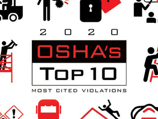 OSHA's Top 10 Most Cited Violations for FY 2020