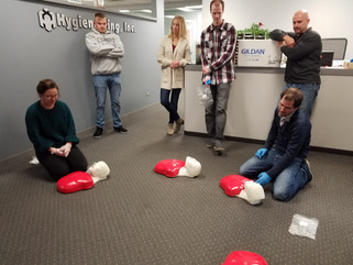 Hygieneering Staff Receives BasicPlus CPR, AED & First Aid for Adults