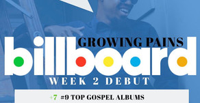 "Choirboi Cam ""Growing Pains"" project hit #9 on Top Gospel Album Billboard Chart"
