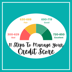 11 Steps To Manage Your Credit Score