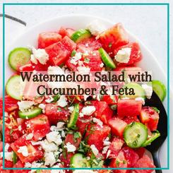 Watermelon Salad with Cucumber & Feta