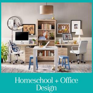Homeschool + Office Design
