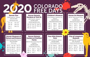 Where To Go: 2020 Free Days