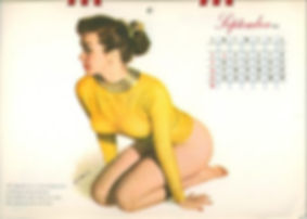Calendrier Pin Up