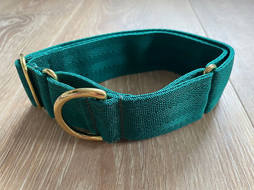 Whippet Forest Green Webbed Double Strength Martingale Collar