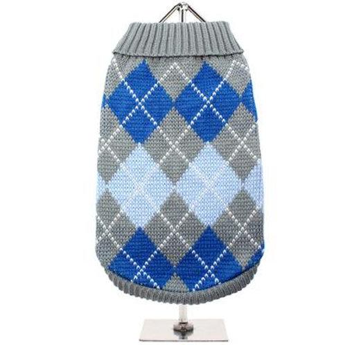 Grey/Blue Argyle Sweater