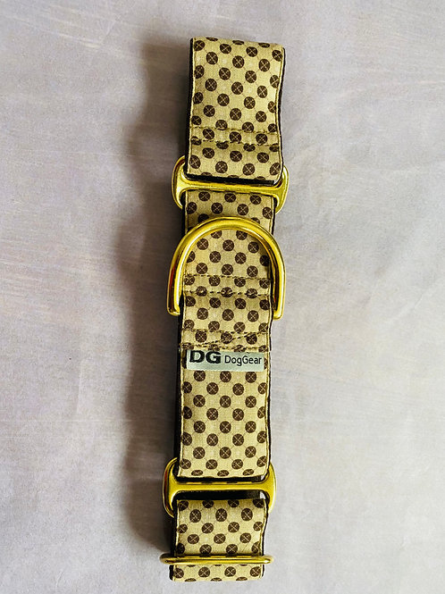 Elegant Brown Dots Martingale Collar