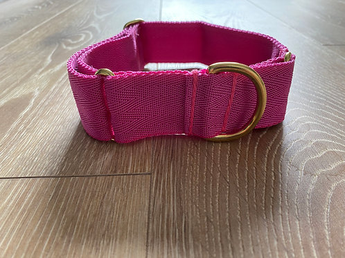 Pretty Pink Webbed Martingale Collar