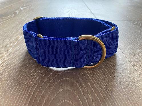 Royal Blue Webbed Martingale Collar