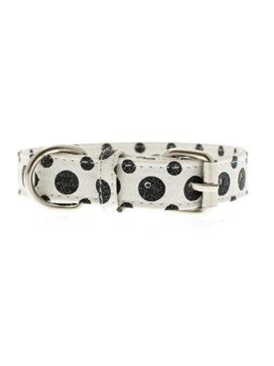 Black & White Polka Dot Glitter Collar