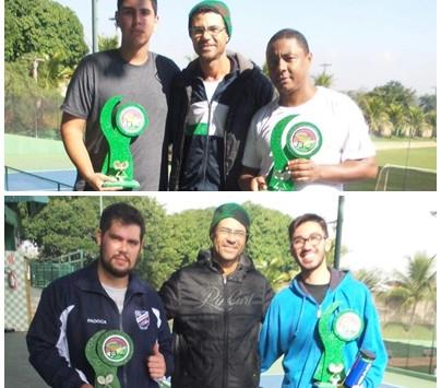 Vencedores do Torneio Interno de Tênis