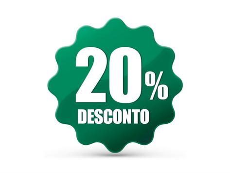Desconto de 20% é mantido