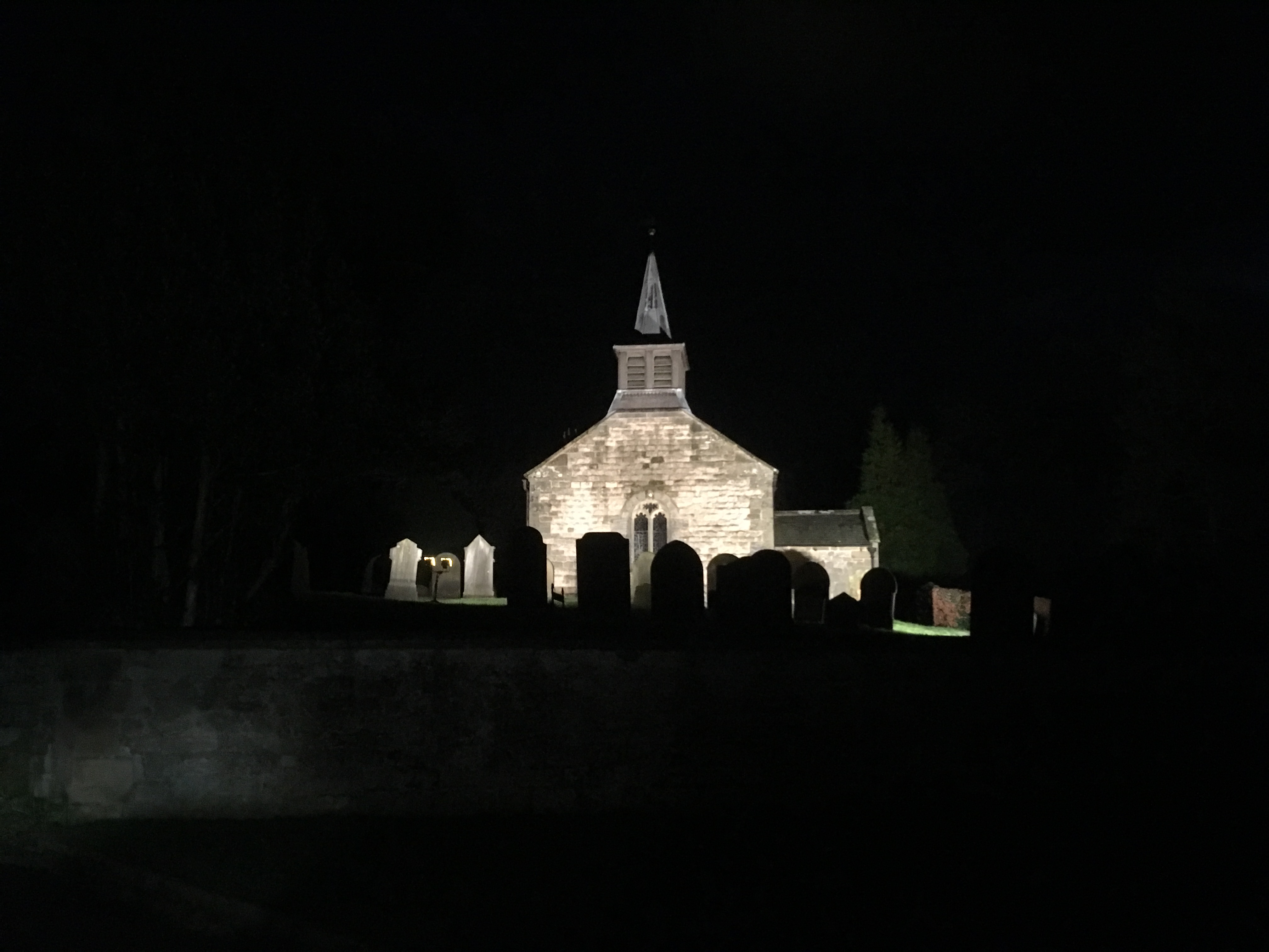 The village church by night