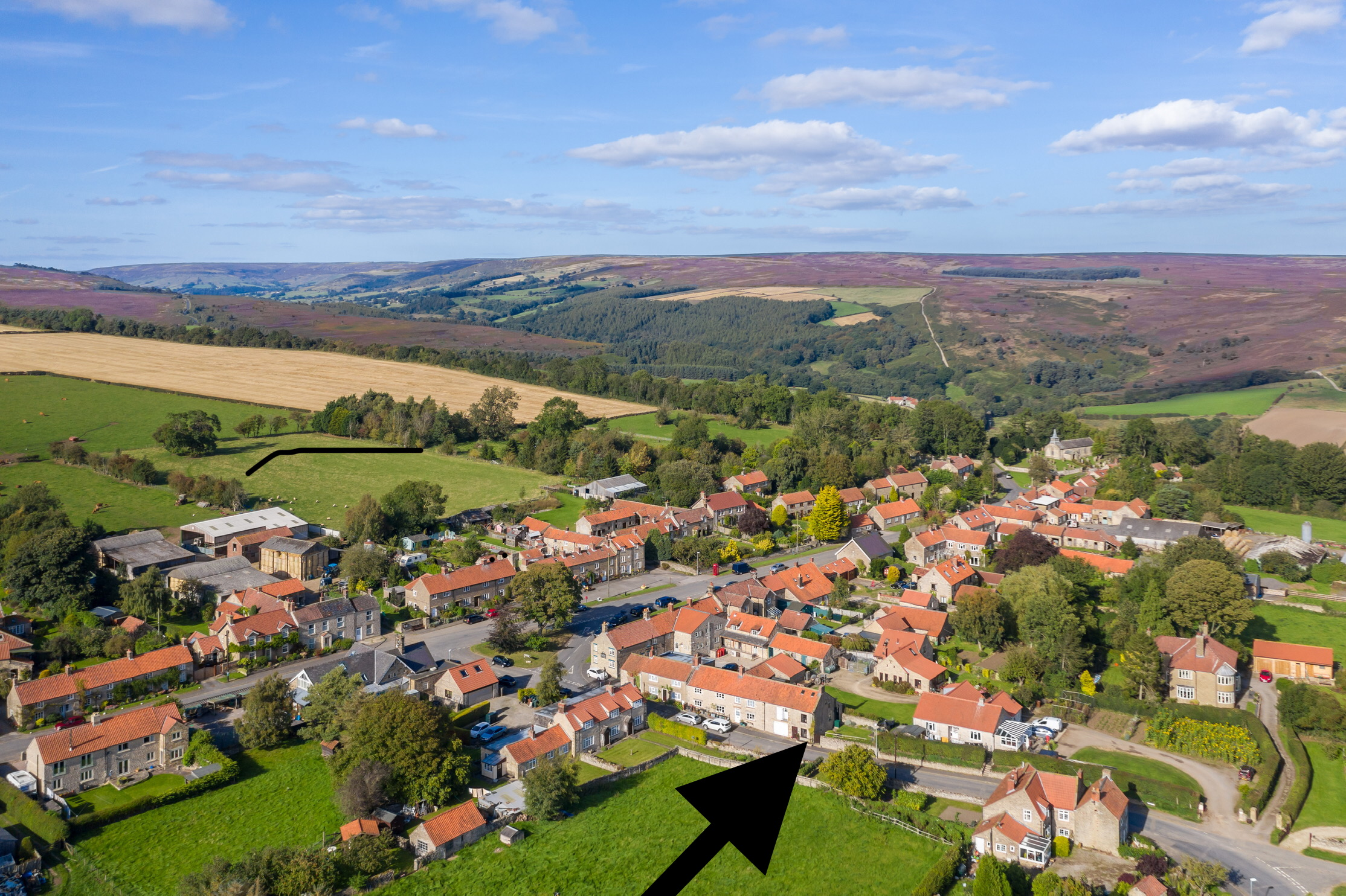Aerial with view of the moor