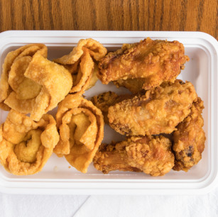 Chicken Wings & Fried Wontons