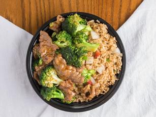 Beef & Broccoli with Pork Fried Rice