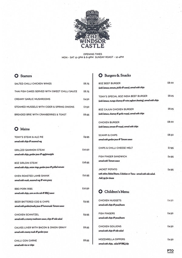 our menu page 2